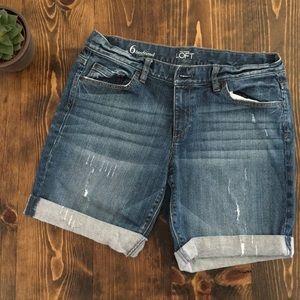 Ann Taylor Loft - Bermuda Jean Shorts - 6